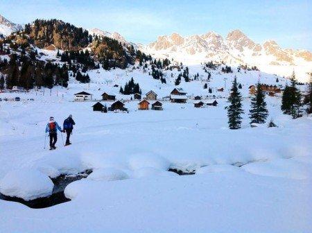 Ciaspolare in Val di Fassa Trentino