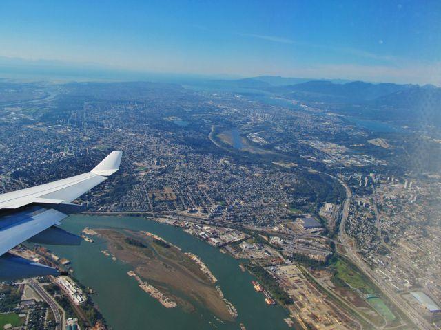 Vancouver dall'aereo