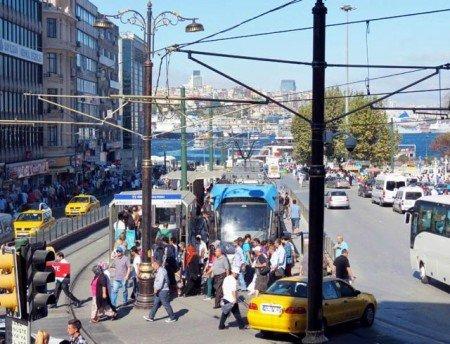 Giro in taxi a Istanbul