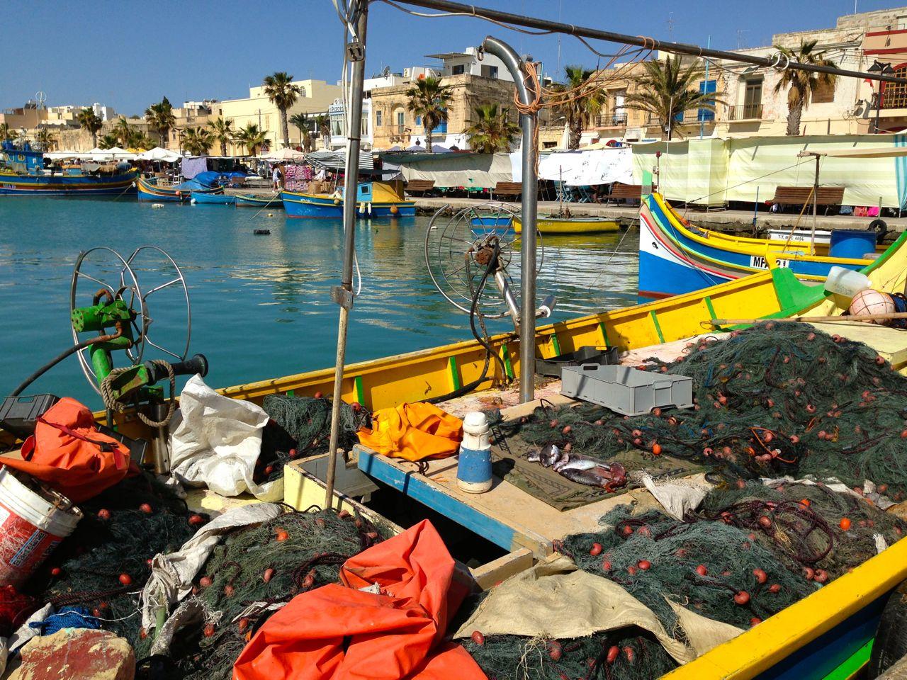 Marsaxlokk, il villaggio di pescatori, Malta