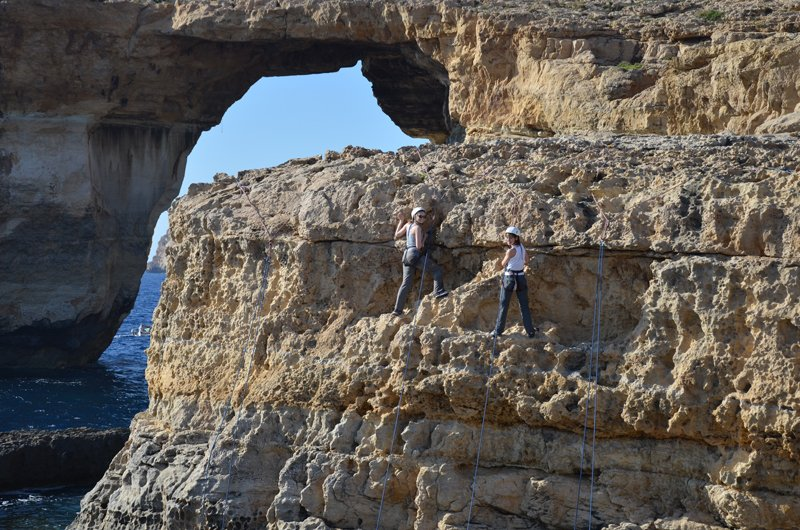 climbing Gozo, Malta