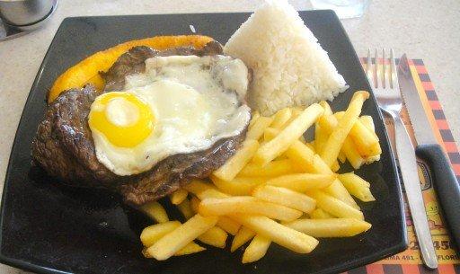 bisteck  piatto tipico perù