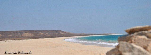 Praia Curral Velho, Capo Verde isola di Boavista