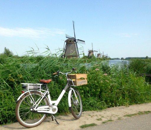 In bici tra i mulini di Kinderdijk