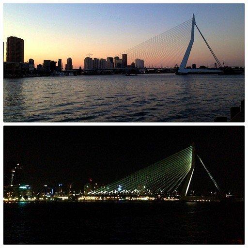 Erasmusbridge Ponte di Rotterdam