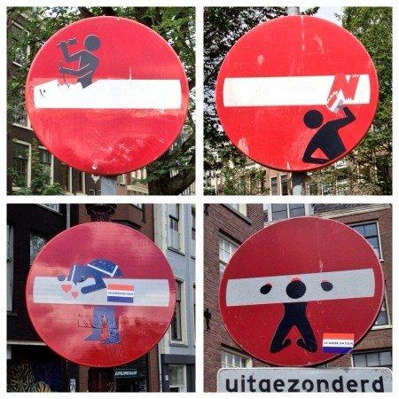 segnali stradali Amsterdam