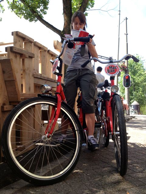 in bici a Amsterdam