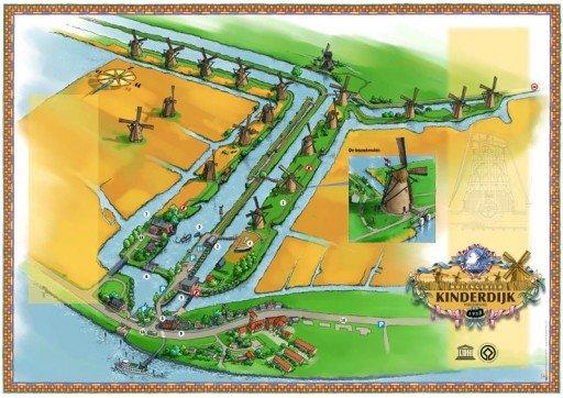 I mulini di Kinderdijk - Olanda mappa