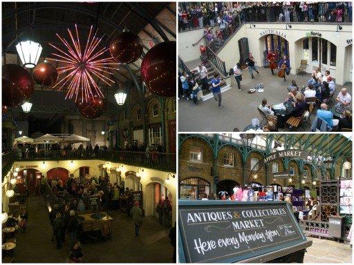 Londra mercato Covent Garden a Natale
