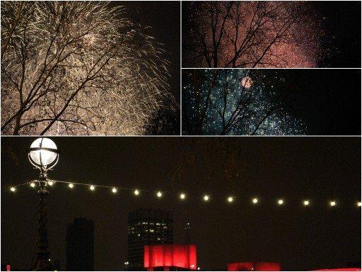 Capodanno a Londra, fuochi d'artificio
