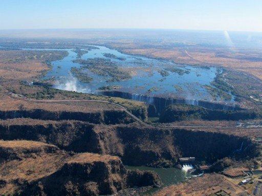 Victoria Falls veduta aerea