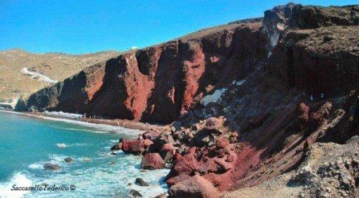 red beach, Visitare Santorini, isole Cicladi Grecia
