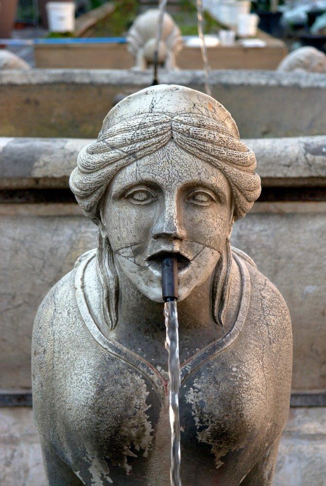 Particolare della fontana Contarini - Bergamo