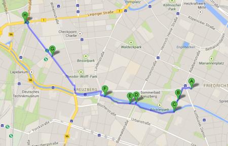 Berlino a piedi - itinerario