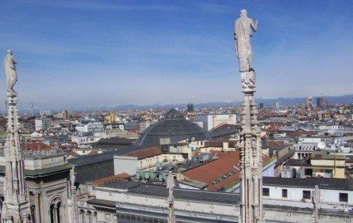 Dalla cima del duomo, Milano