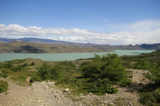 Vista-lago-Nordenskjold - Cile