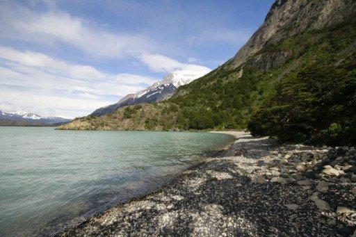 Spiaggia lago Nordenskjold - Cile
