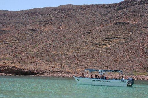 Isla dell'Espiritu Santo in barca