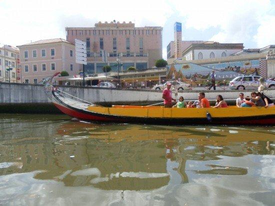 In barca a Aveiro Portogallo