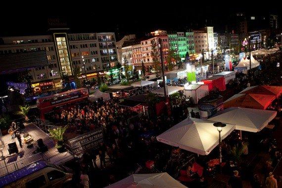 Il Reeperbahn Festival nella Spielbudenplatz
