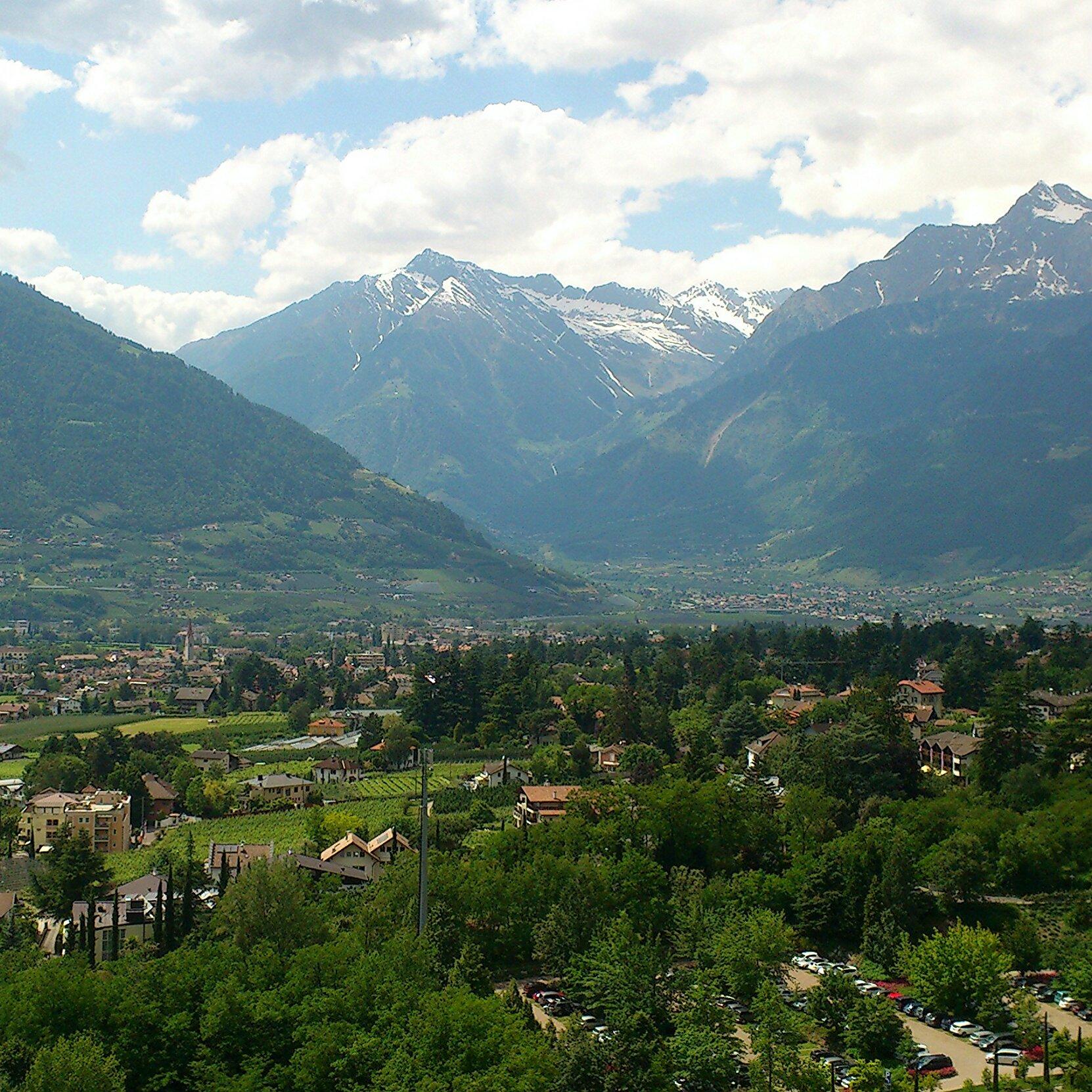 Vista dall'Hotel Villa Tivoli - Merano