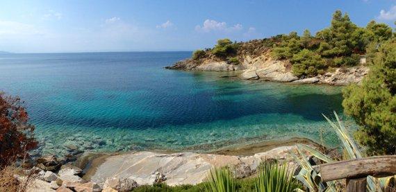 spiagge Calcidica, Grecia