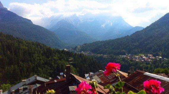 Fornesighe, vista di un ramo della Val di Zoldo