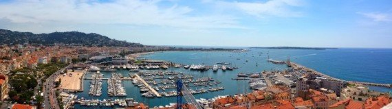 Panoramica di Cannes, dalla torre del Musée de la Castre