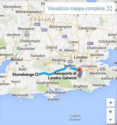 itinerario per Stonehenge