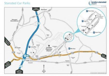 mappa aeroporto Stansted