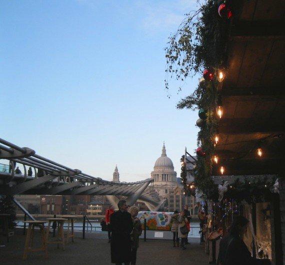 Tate modern, mercati di Natale a Londra