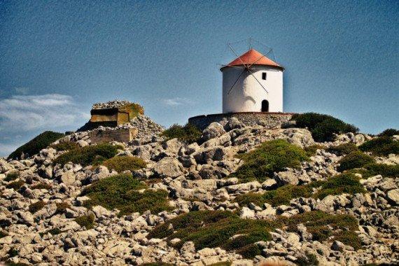 Mulino Paromitis,  Panormitis, isola grecia