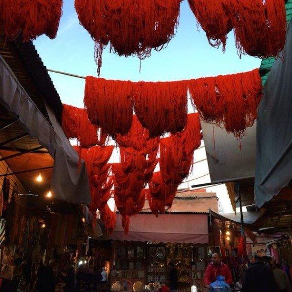 rosso tintori Marrakech