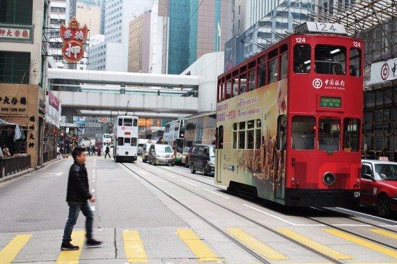 tram a due piani hong kong island