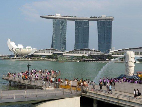 Marina Bay Sands Hotel e Merlion