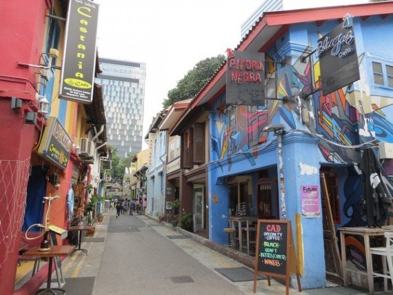 Singapore. Una strada nel quartiere musulmano a Singapore