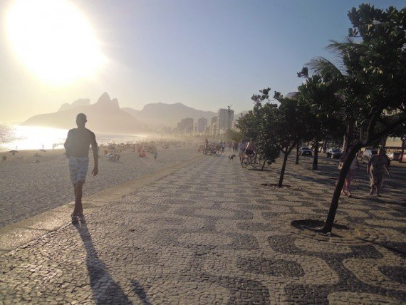 spiaggia a Copacabana