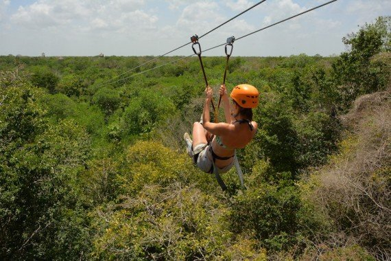 zipline foresta riviera maya, messico