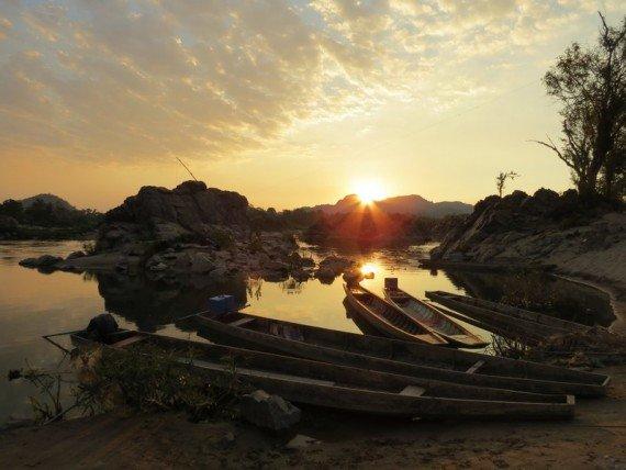 Un tramonto come questo su Don Khone resterà sempre impresso nella memoria
