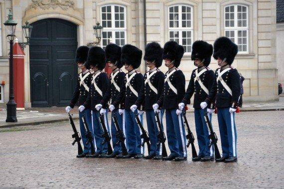 Copenaghen cambio guardia