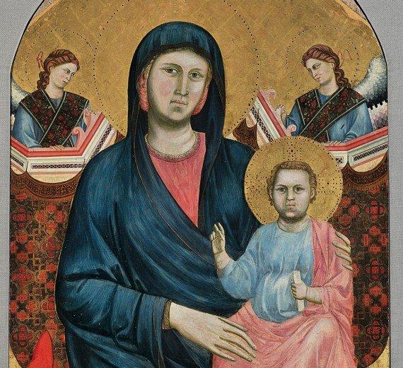 8. Madonna col bambino in trono e due angeli