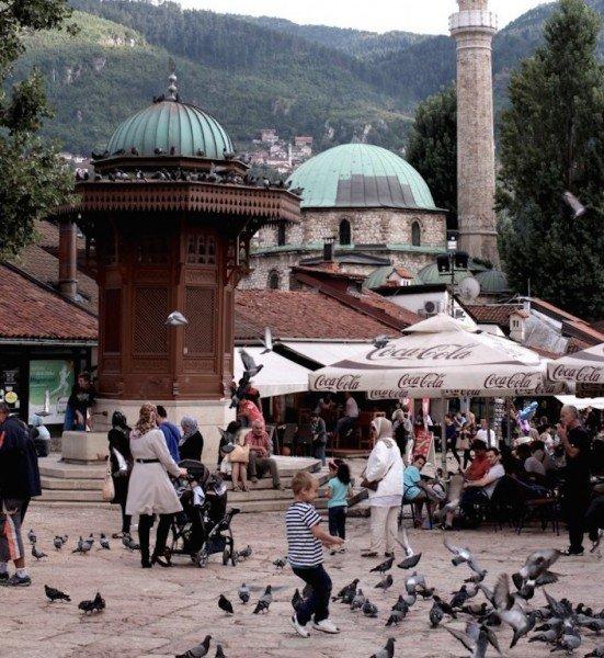 Il centro storico di Sarajevo