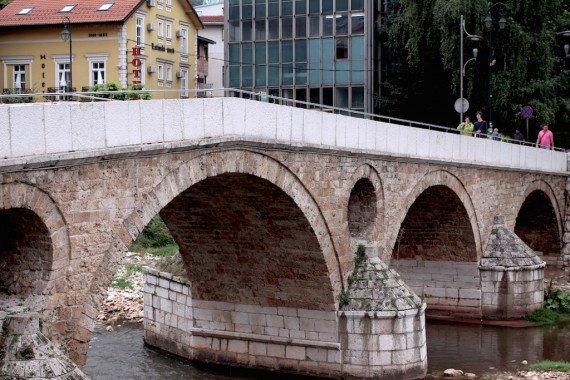 Il ponte Latino dove venne ucciso l'Arciduca Ferdinando d'Austria, cosa che scatenò la Prima Guerra Mondiale.