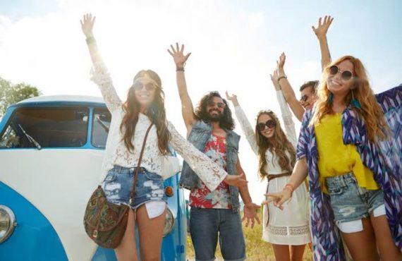 hippy con camper