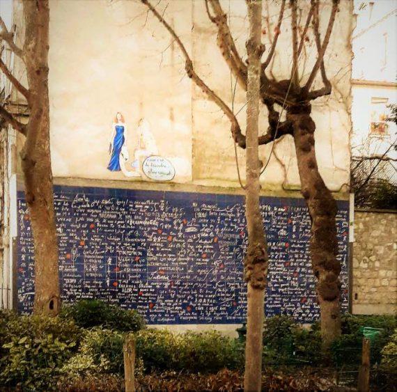 Le mur des Je T'Aime - il muro dei Ti amo - Parigi - montartre