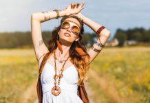 ragazza hippy