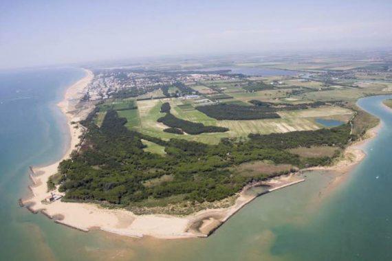 Spiaggia bibione dall'alto