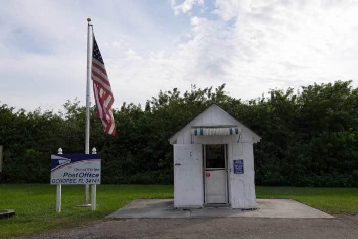 Ufficio postale ochopee Everglades cosa cedere
