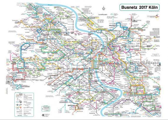 mappa autobus Colonia