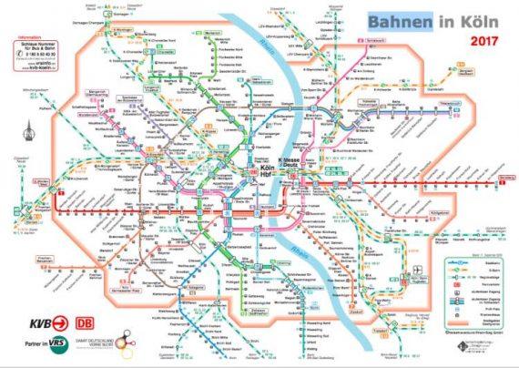 mappa metro e treni Colonia